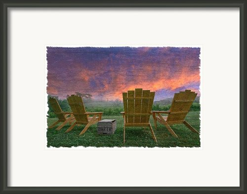 Happy Hour Framed Print By Debra And Dave Vanderlaan