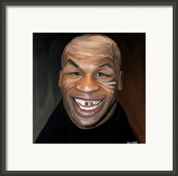Happy Iron Mike Tyson Framed Print By Brett Hardin