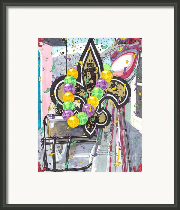Happy Lombardi Gras Framed Print By Matthew Fields