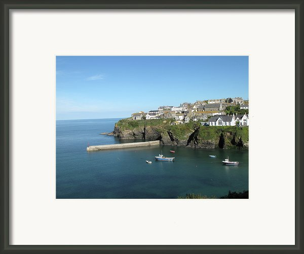 Harbour In Port Isaac, Cornwall Framed Print By Thepurpledoor