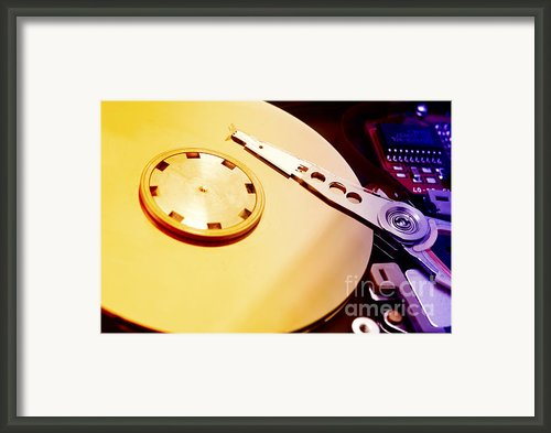 Hard Disk Detail Framed Print By Fabrizio Troiani