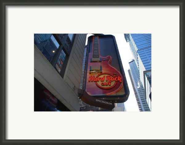 Hard Rock Cafe N Y C Framed Print By Rob Hans