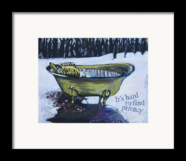 Hard To Find Privacy Framed Print By Tilly Strauss