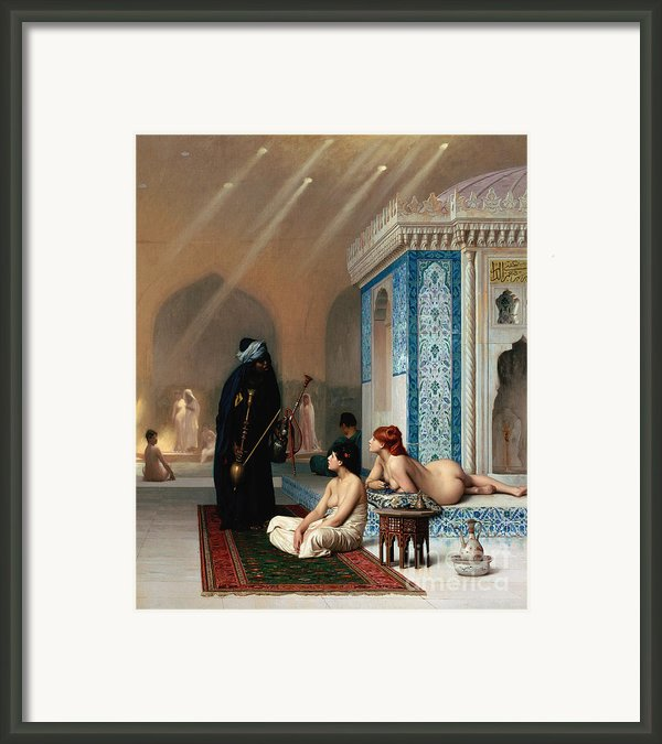 Harem Pool Framed Print By Pg Reproductions