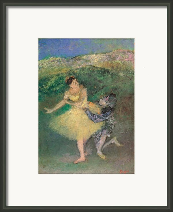 Harlequin And Colombine Framed Print By Edgar Degas
