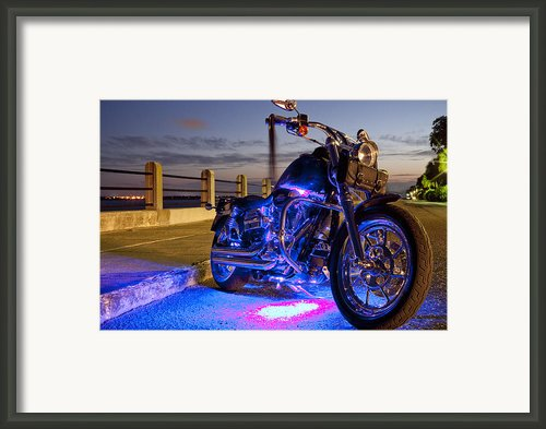 Harley Davidson Motorcycle Framed Print By Dustin K Ryan