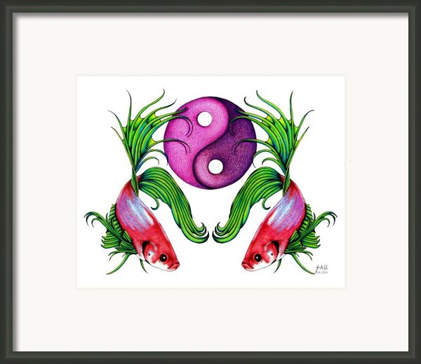Harmony Together Framed Print By Sheryl Unwin