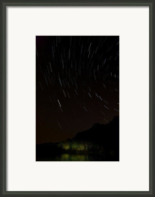 Harriman Star Trails Framed Print By Mike Horvath