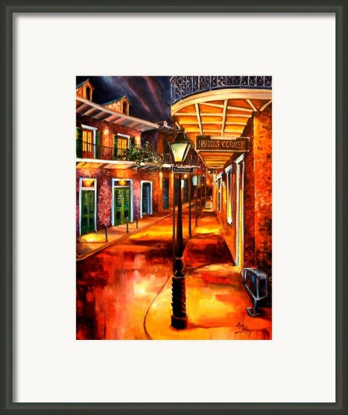 Harrys Corner New Orleans Framed Print By Diane Millsap