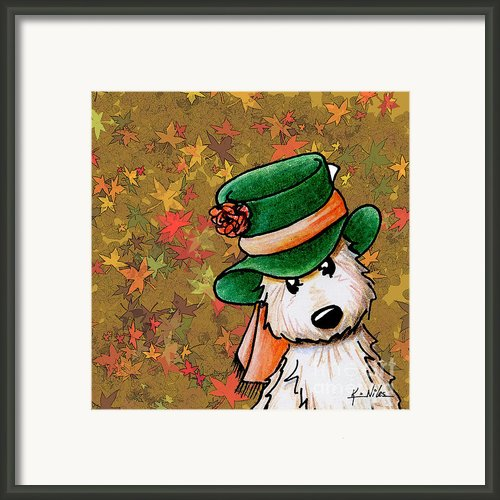 Hat Season Cairn Terrier Framed Print By Kim Niles