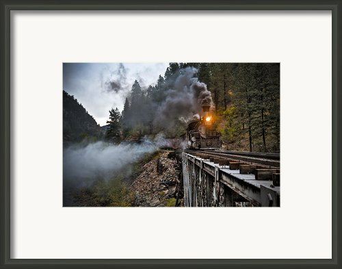 Hauling Though The Mountains Framed Print By Patrick  Flynn