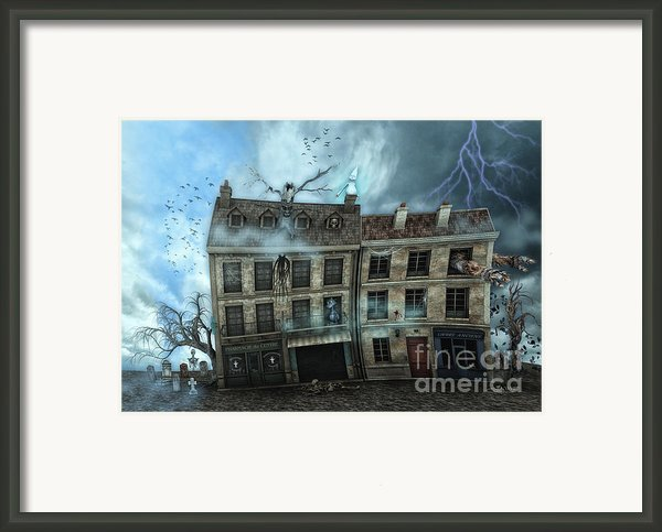 Haunted House Framed Print By Jutta Maria Pusl