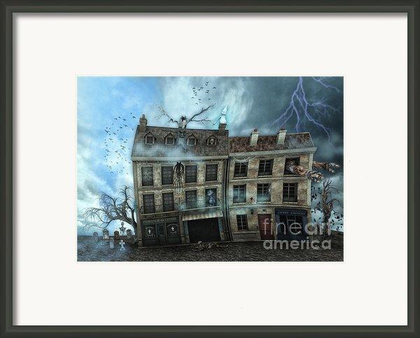 Haunted House Framed Print By Jutta Maria Pusl