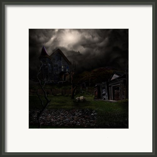Haunted House Framed Print By Lisa Evans