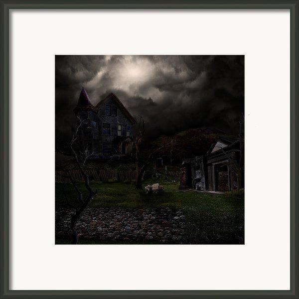 Haunted House Framed Print By Lisa Evans
