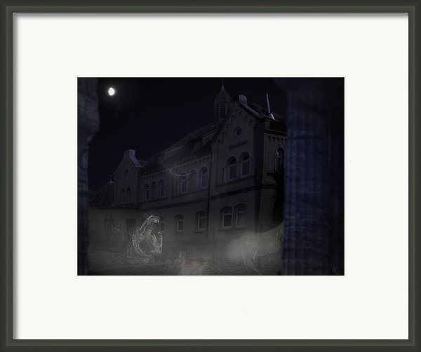 Haunted House Framed Print By Nafets Nuarb