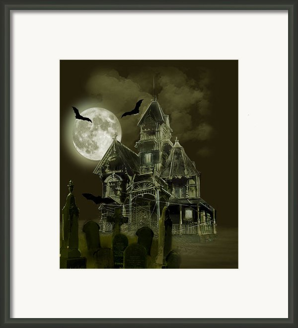 Haunted Mansion Framed Print By Gina Femrite
