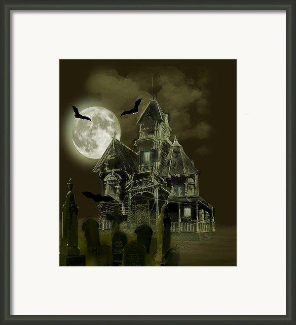 Haunted Mansion Framed Print By Gina Femrite