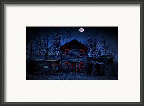 Haunted Red Framed Print By Emily Stauring
