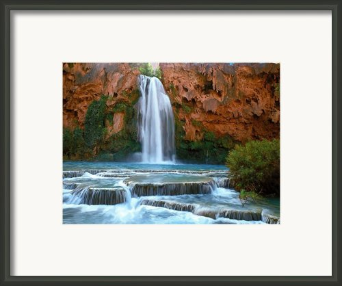 Havasu Falls Framed Print By David Wagner