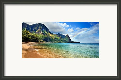 Hawaii Rainbow Framed Print By Monica And Michael Sweet