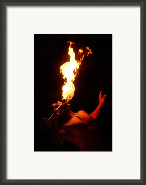 Hawaiian Luau Fire Eater Framed Print By Jill Reger