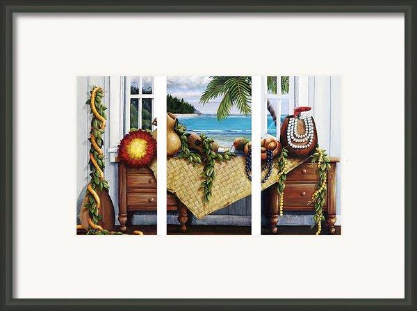 Hawaiian Still Life With Haleiwa On My Mind Framed Print By Sandra Blazel - Printscapes
