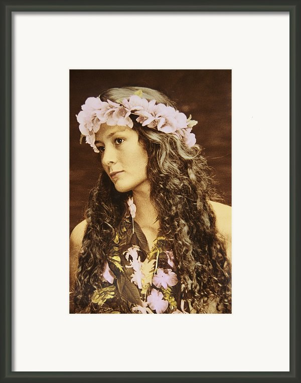 Hawaiian Wahine Framed Print By Himani - Printscapes