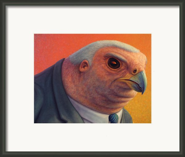 Hawkish Framed Print By James W Johnson