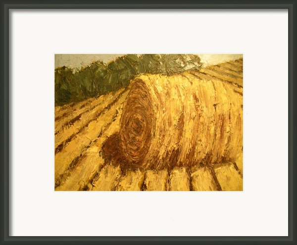 Haybale Hill Framed Print By Jaylynn Johnson