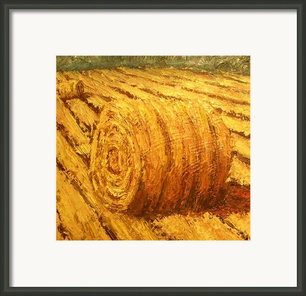 Haybale Ii Framed Print By Jaylynn Johnson