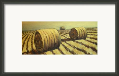 Haybales Framed Print By Jaylynn Johnson