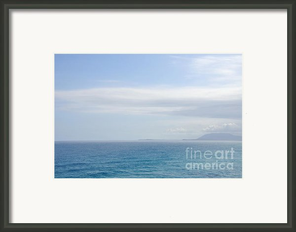 Hazy Ocean View Framed Print By Kaye Menner