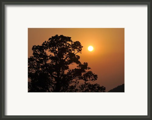 Hazy Sunset Framed Print By Marty Koch