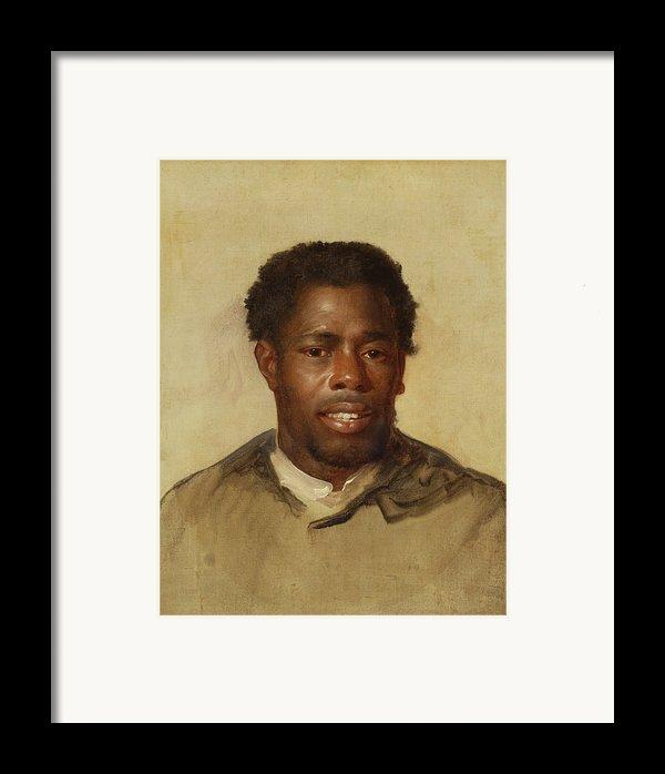 Head Of A Man Framed Print By John Singleton Copley