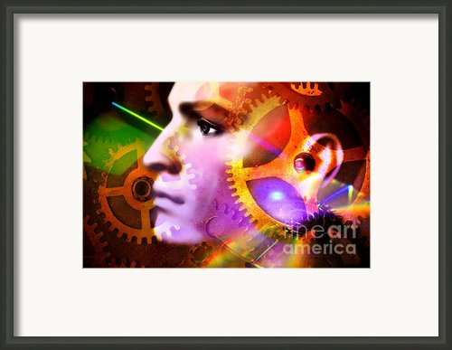 Head Of A Mannequin Framed Print By Bernard Jaubert