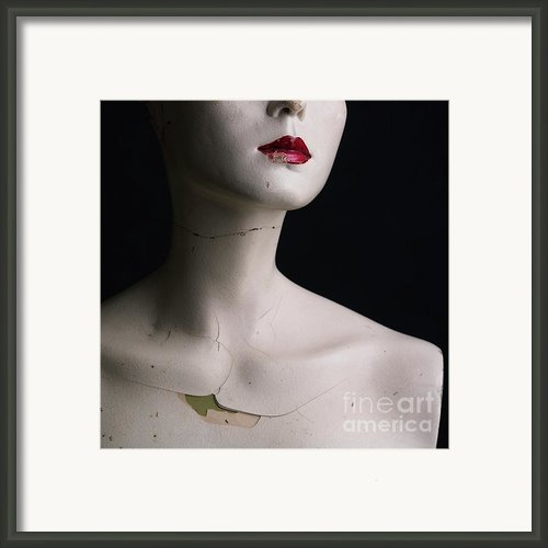 Head Of Dummy Framed Print By Bernard Jaubert