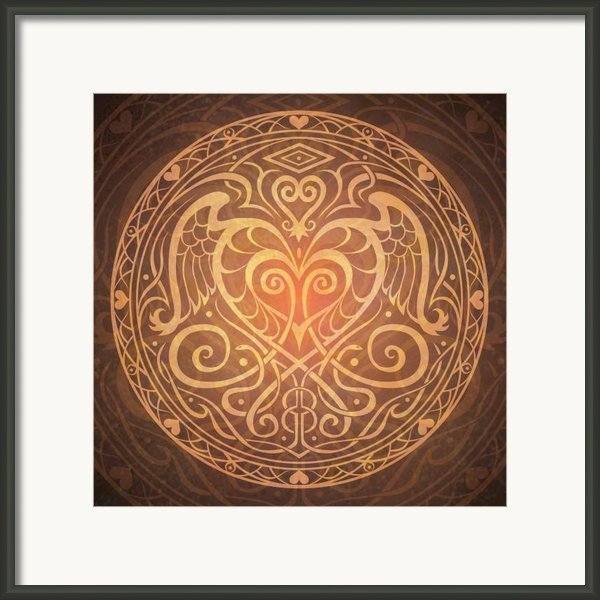 Heart Of Wisdom Mandala Framed Print By Cristina Mcallister