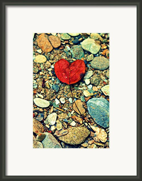 Heart On The Rocks Framed Print By Susie Weaver