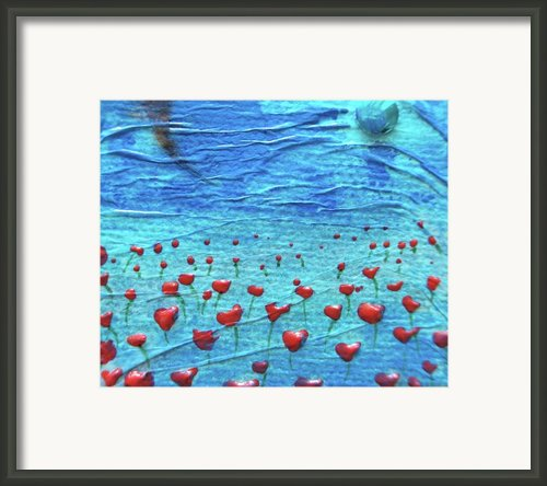 Heart Poppies Framed Print By Shawna Scarpitti