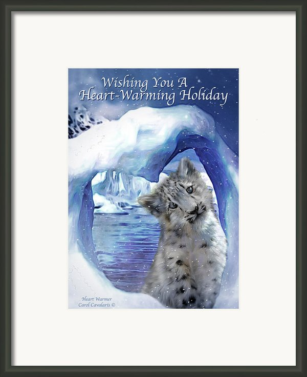 Heart Warmer Card Framed Print By Carol Cavalaris