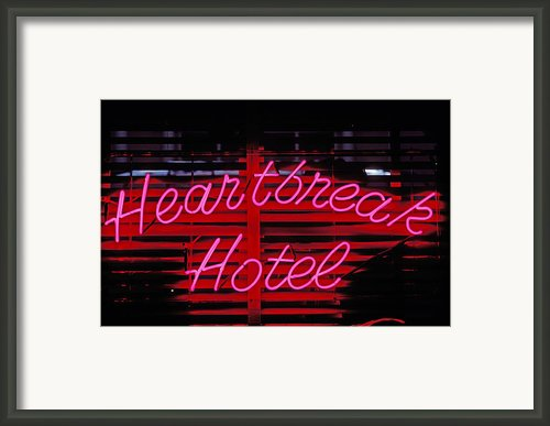 Heartbreak Hotel Neon Framed Print By Garry Gay