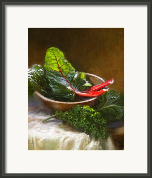 Hearty Greens Framed Print By Robert Papp