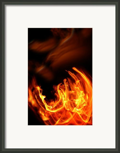 Heavenly Flame Framed Print By Donna Blackhall