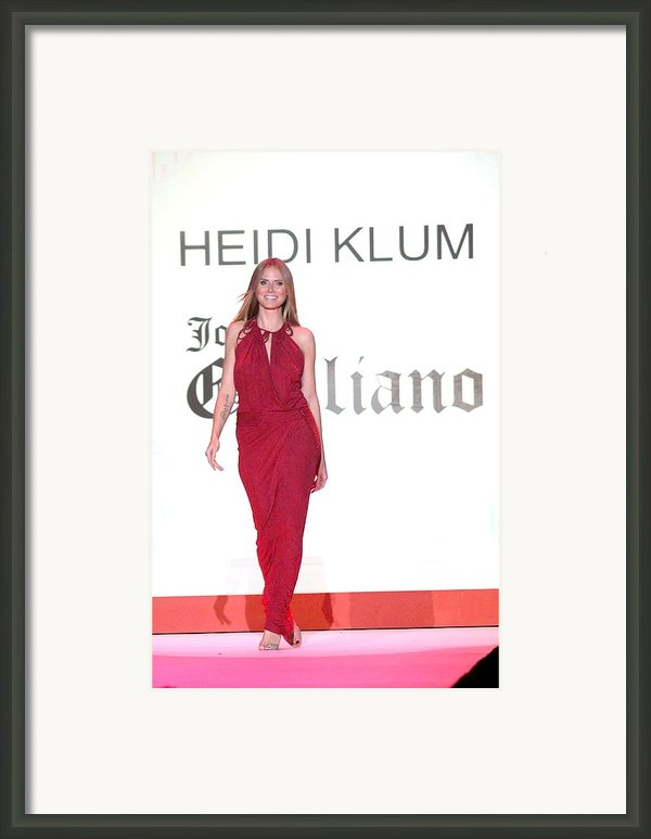Heidi Klum In Attendance For The Heart Framed Print By Everett