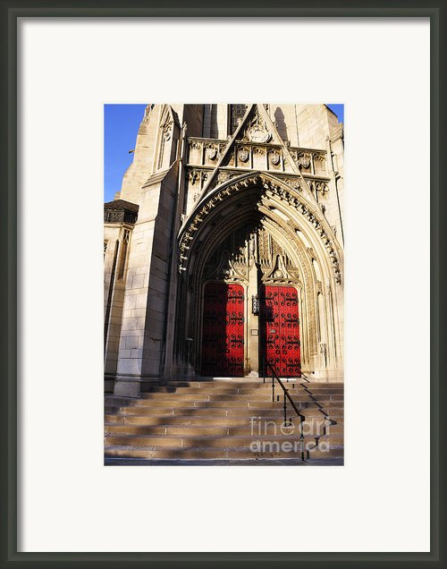 Heinz Chapel Main Entrance Framed Print By Thomas R Fletcher