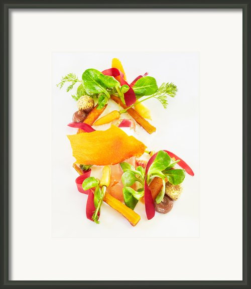 Heirloom Carrot Salad With Garam Masala And Lime Framed Print By Trinette Reed