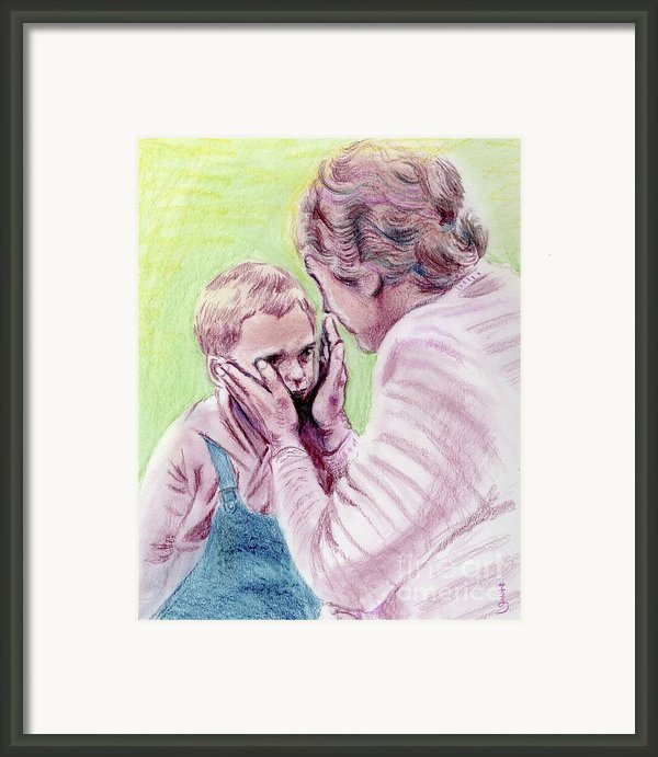 Helen Keller And A Boy Framed Print By Yoshiko Mishina