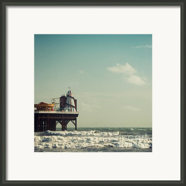 Helter-skelter On Brighton Pier  Framed Print By Paul Grand