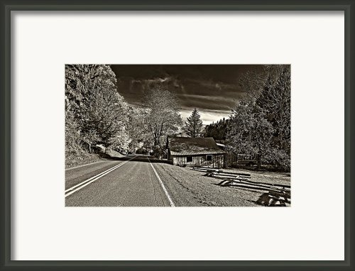 Helvetia Wv Monochrome Framed Print By Steve Harrington